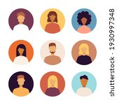people portraits icons set.... | Shutterstock .eps vector #1930997348