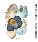 watercolor abstract shapes... | Shutterstock . vector #1931040932