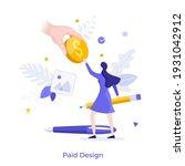 hand giving dollar coin or... | Shutterstock .eps vector #1931042912