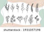 set trendy hand drawn... | Shutterstock .eps vector #1931057198