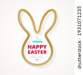 happy easter greeting card with ... | Shutterstock .eps vector #1931071235