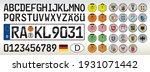 germany car license plate ... | Shutterstock .eps vector #1931071442