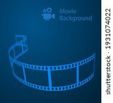 movie abstract background blue...   Shutterstock .eps vector #1931074022