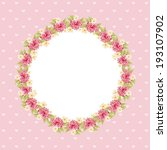 flowers design over pink... | Shutterstock .eps vector #193107902