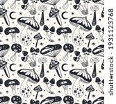 space mushrooms seamless... | Shutterstock .eps vector #1931123768