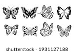 set of butterflies isolated on... | Shutterstock .eps vector #1931127188