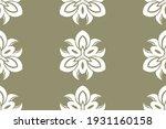gothic ornament white on ... | Shutterstock .eps vector #1931160158
