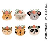 set of isolated cute animal... | Shutterstock .eps vector #1931165168