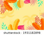 tropical background with jungle ... | Shutterstock .eps vector #1931182898