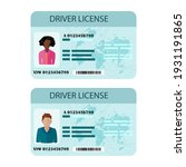 man and woman driver license... | Shutterstock .eps vector #1931191865