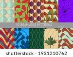 vintage geometric pattern set... | Shutterstock .eps vector #1931210762
