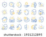 skin care cosmetic line icons.... | Shutterstock .eps vector #1931212895