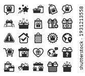 gift icons. present box  offer... | Shutterstock .eps vector #1931213558