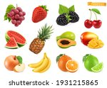 sweet fruits. grapes ... | Shutterstock .eps vector #1931215865