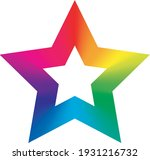 colorful star icon with five... | Shutterstock .eps vector #1931216732