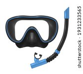 diving mask and snorkel... | Shutterstock .eps vector #1931233565