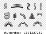 metal spring set spiral coil...   Shutterstock .eps vector #1931237252
