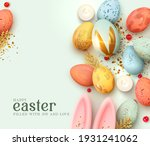 happy easter day. festive... | Shutterstock .eps vector #1931241062