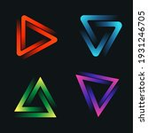 abstract art triangle logo with ...   Shutterstock .eps vector #1931246705