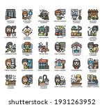 set of cleaning thin line and... | Shutterstock .eps vector #1931263952