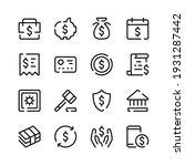 bank account icons. vector line ... | Shutterstock .eps vector #1931287442
