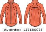 long sleeve sport jacket design ... | Shutterstock .eps vector #1931300735