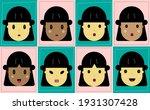 female emotion facial...   Shutterstock .eps vector #1931307428