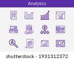 premium set of analytics line... | Shutterstock .eps vector #1931312372