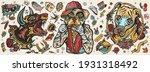 dogs. evil doberman  street...   Shutterstock .eps vector #1931318492