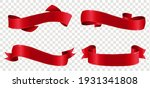 big set red ribbons isolated... | Shutterstock .eps vector #1931341808