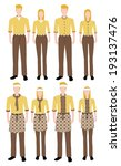 fashion uniform set  | Shutterstock .eps vector #193137476