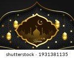 ramadan kareem background ... | Shutterstock .eps vector #1931381135