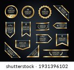 black and gold ribbons vector... | Shutterstock .eps vector #1931396102