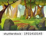 summer forest glade with green... | Shutterstock .eps vector #1931410145