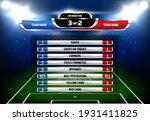 football game statistics... | Shutterstock .eps vector #1931411825