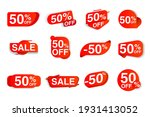 sale label set giving fifty... | Shutterstock .eps vector #1931413052
