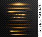 fiery light flares  glowing... | Shutterstock .eps vector #1931416232