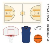 Basketball Vector Icon Set With ...