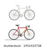 bike icon art abstract cycle | Shutterstock .eps vector #1931423738
