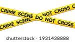 crime scene do not cross tape.... | Shutterstock .eps vector #1931438888