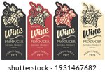 set of wine labels decorated... | Shutterstock .eps vector #1931467682