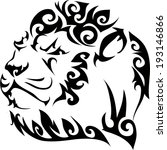 lion tattoos and designs.   Shutterstock .eps vector #193146866