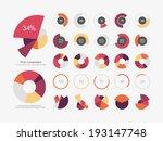 infographic elements pie chart... | Shutterstock .eps vector #193147748