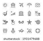 vector set of vacation line... | Shutterstock .eps vector #1931479688