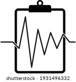 clipboard with heartbeat icon...   Shutterstock .eps vector #1931496332