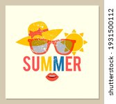 summer is coming. poster design ... | Shutterstock .eps vector #1931500112