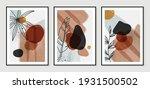 botanical wall art vector set.... | Shutterstock .eps vector #1931500502