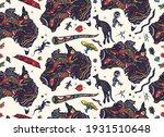 australia seamless pattern.... | Shutterstock .eps vector #1931510648