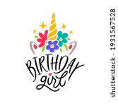 birthday girl lettering... | Shutterstock .eps vector #1931567528