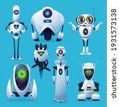 future vector robots  alien... | Shutterstock .eps vector #1931573138